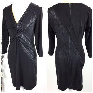 Donna Morgan Black Twist Slimming Stretch Dress